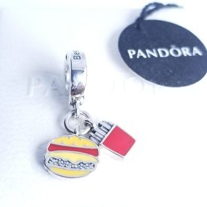 Pandora Burger & Fries Dangle Charm Best Friends